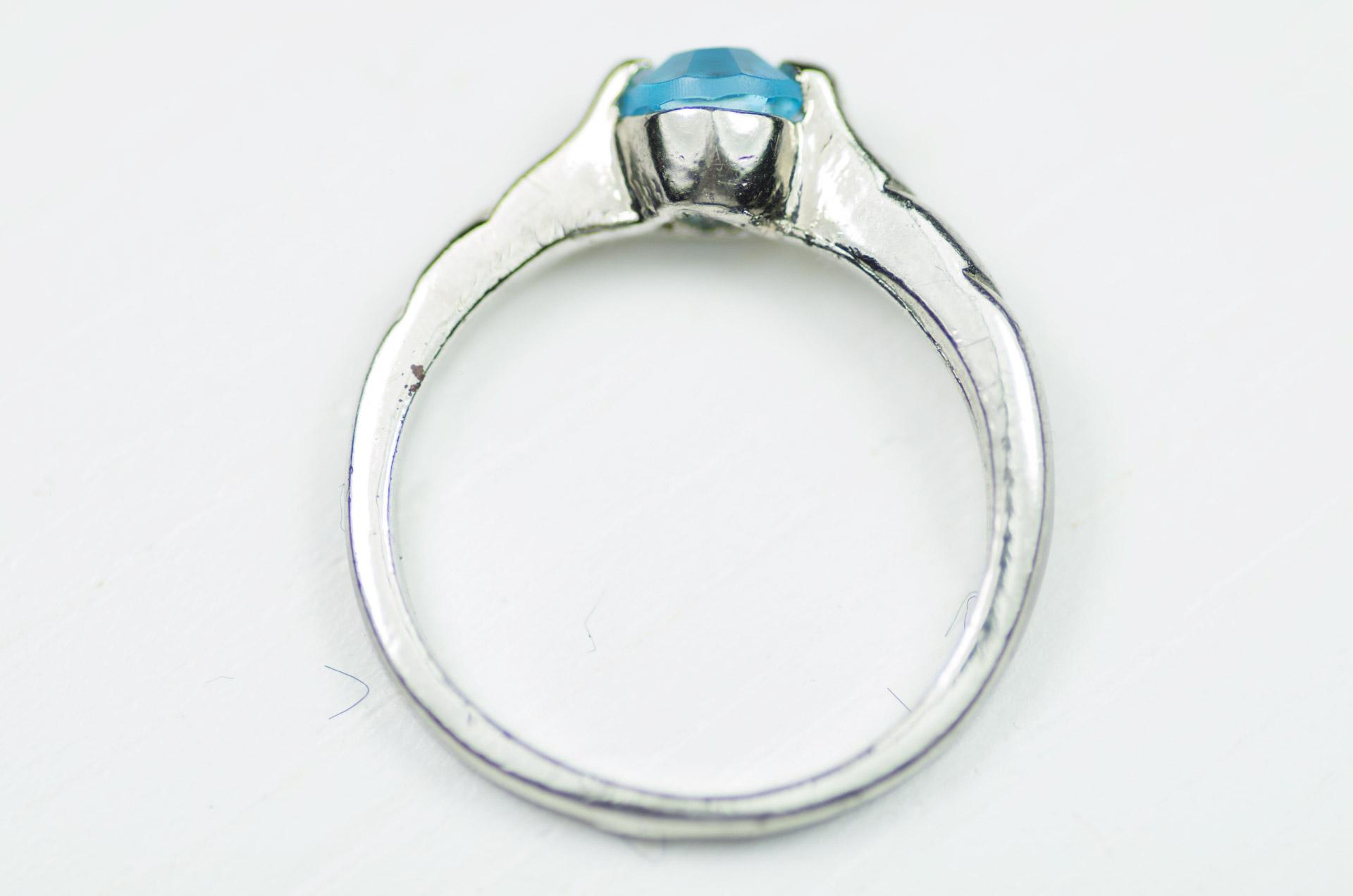 anello solitario pietra turchese 1