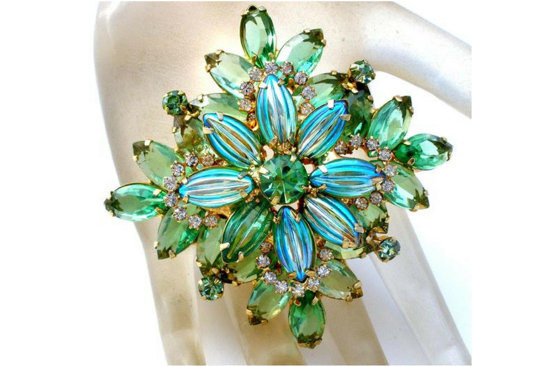 cristalli aurora borealis verde