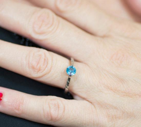 anello solitario pietra turchese 4