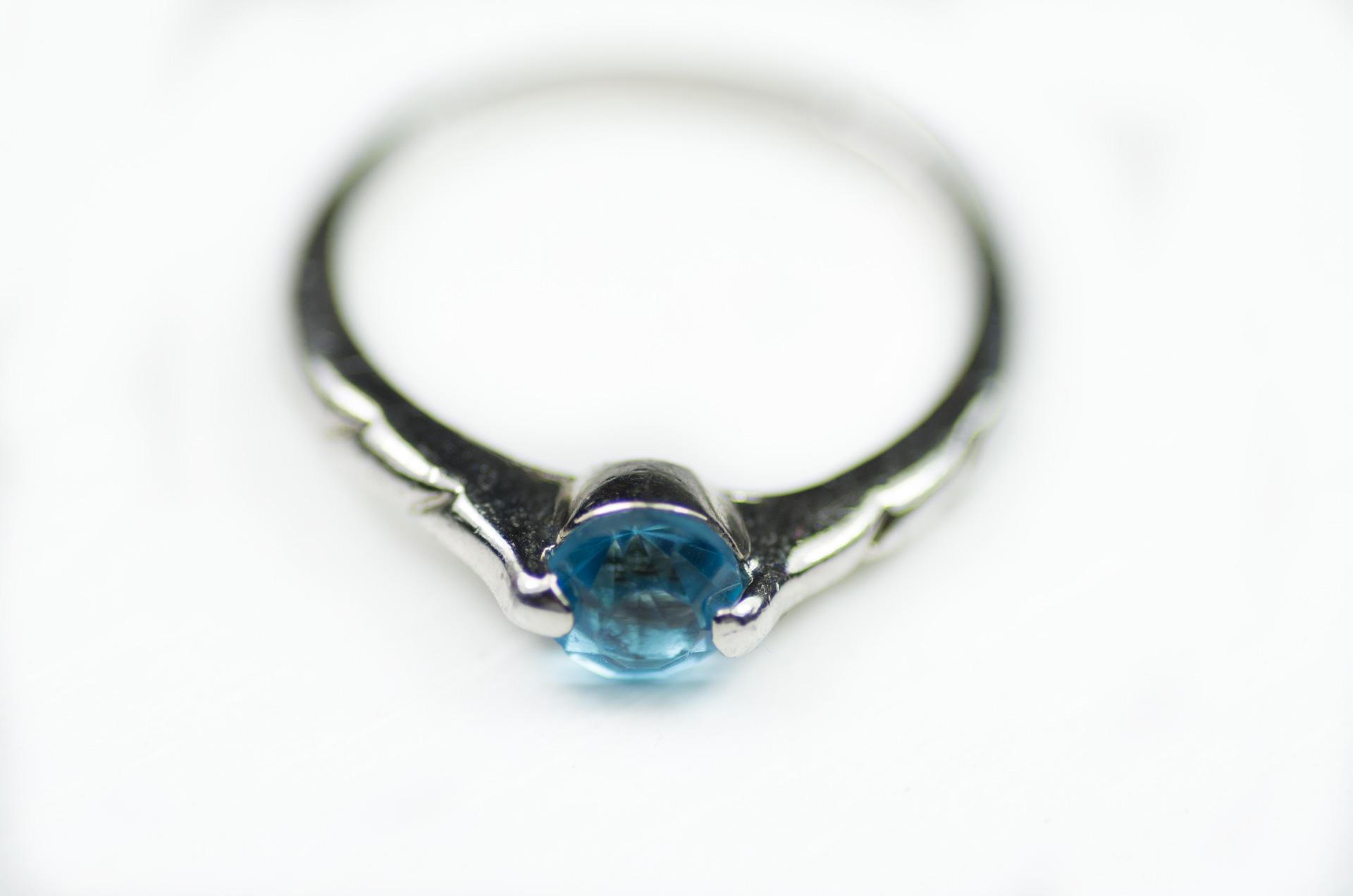 anello solitario pietra turchese 5