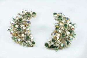 orecchini firmati bsk verde e oro 1