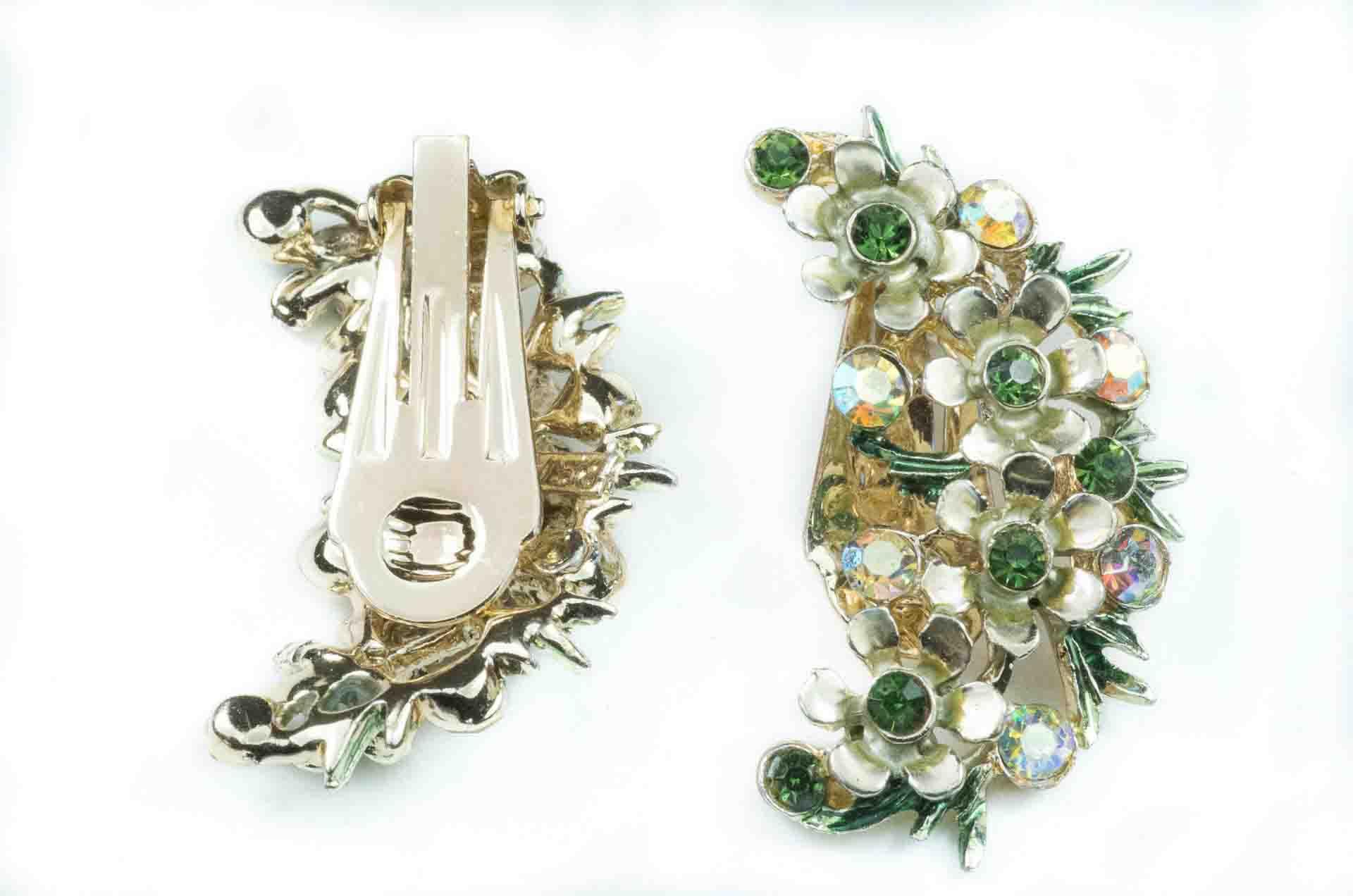 orecchini firmati bsk verde e oro 2