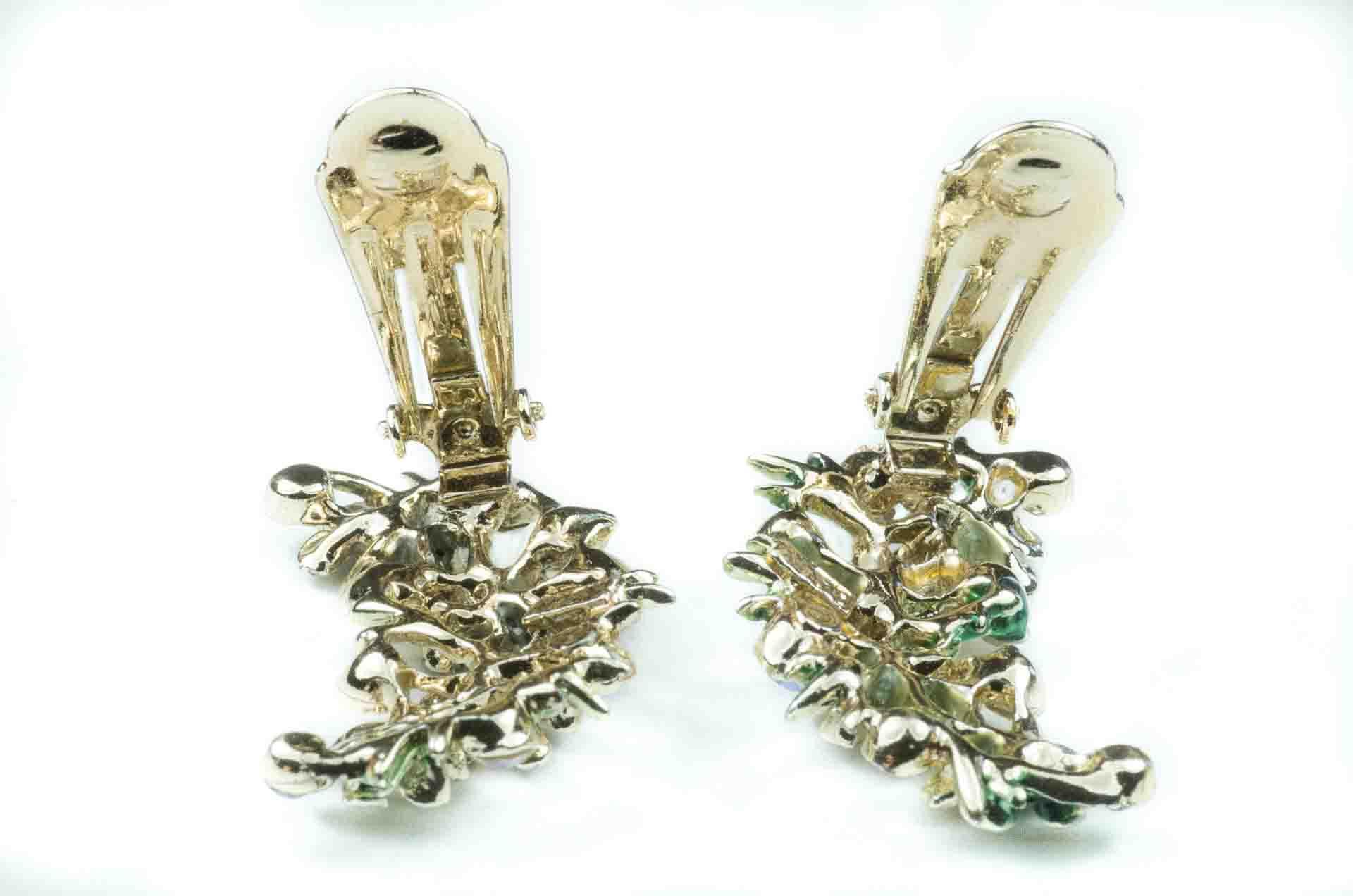 orecchini firmati bsk verde e oro 4