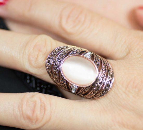 anello a fascia rame rosa 6