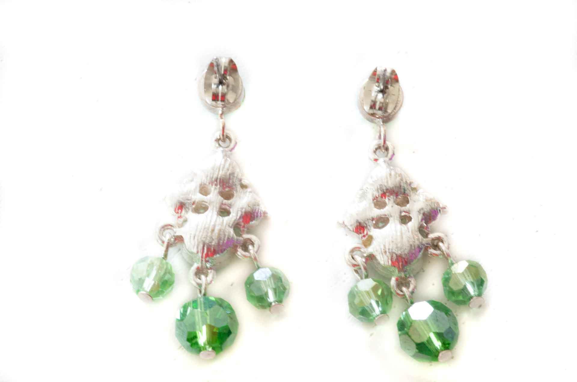 orecchini pendenti verdi 8