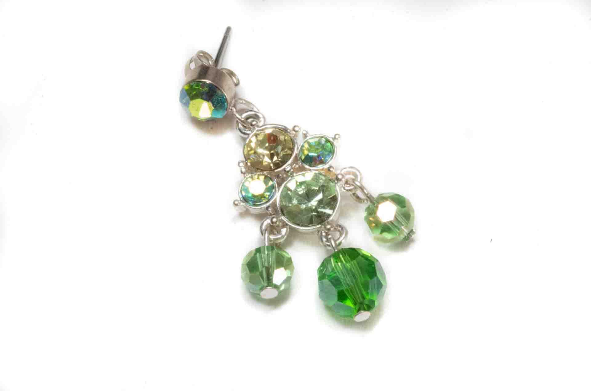 orecchini pendenti verdi 2