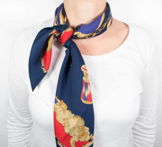 foulard blu rosso 8