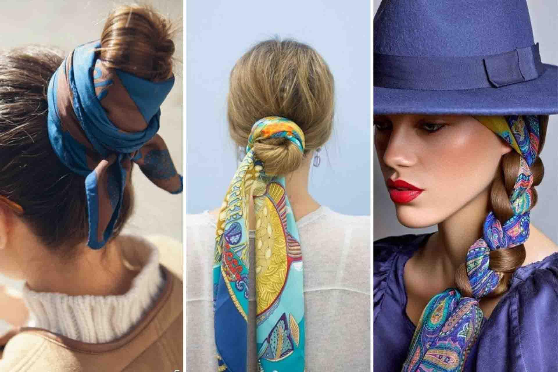 foulard per legare i capelli