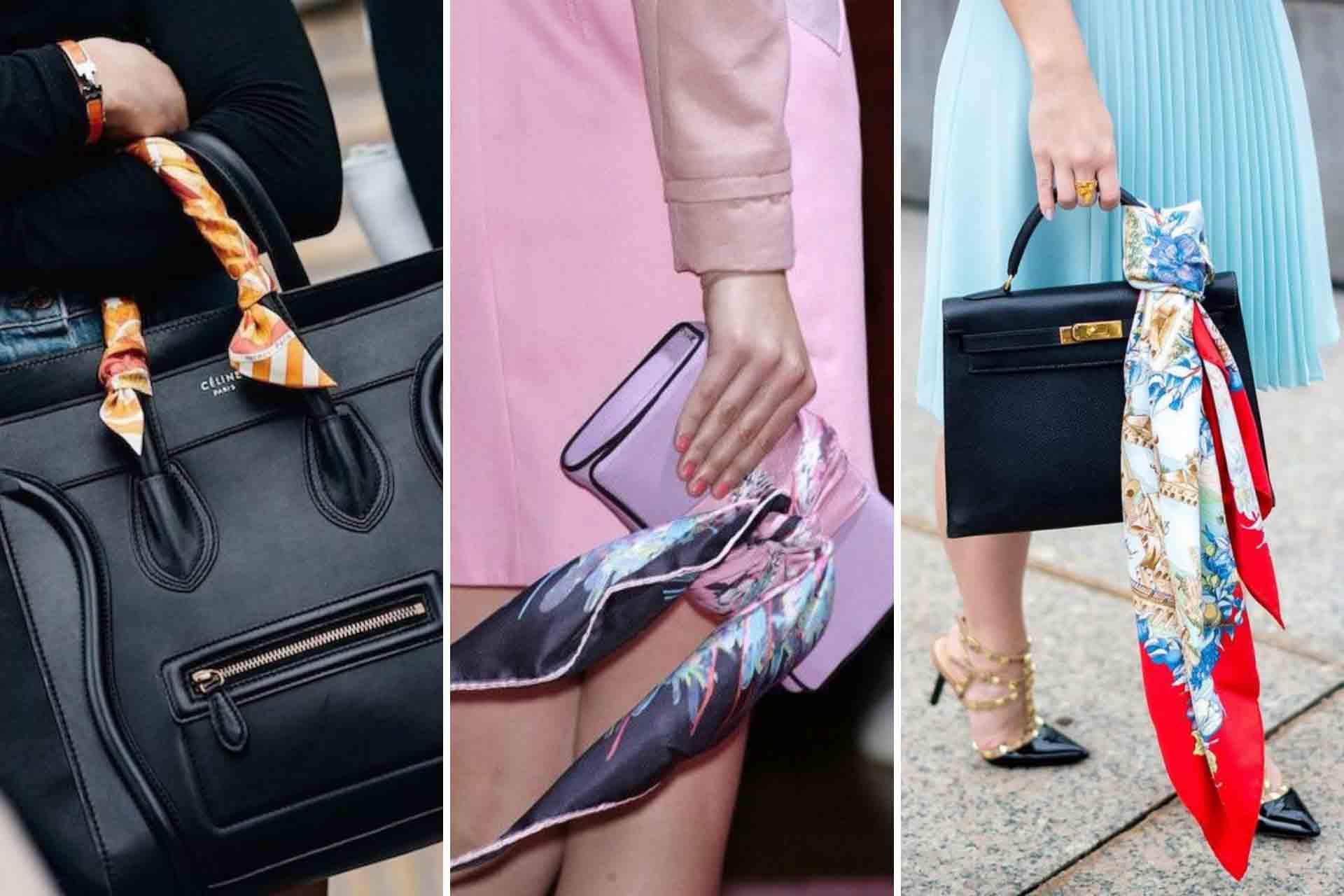 foulard sulla borsa