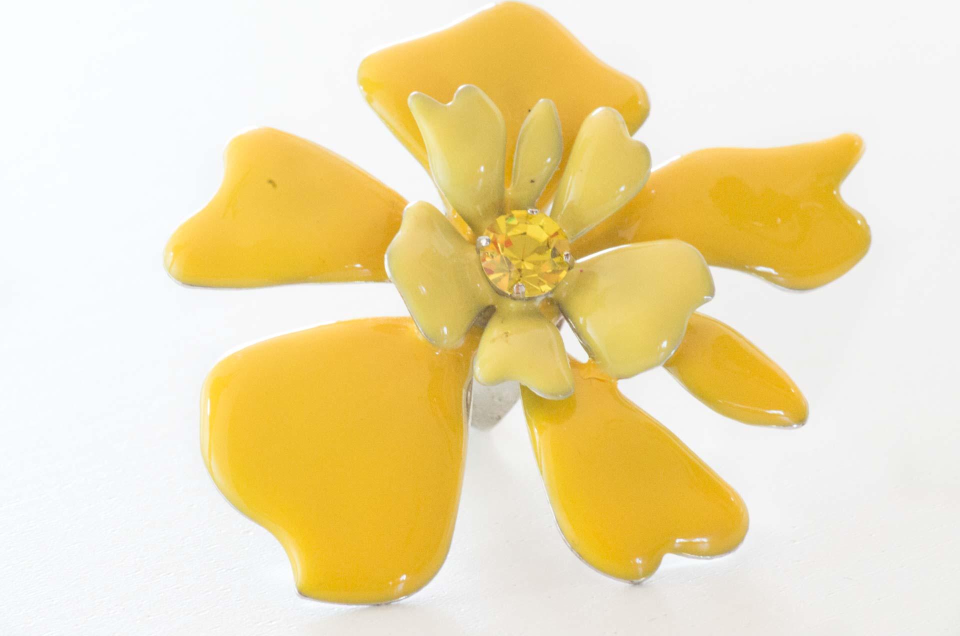 anello in smalto giallo 4