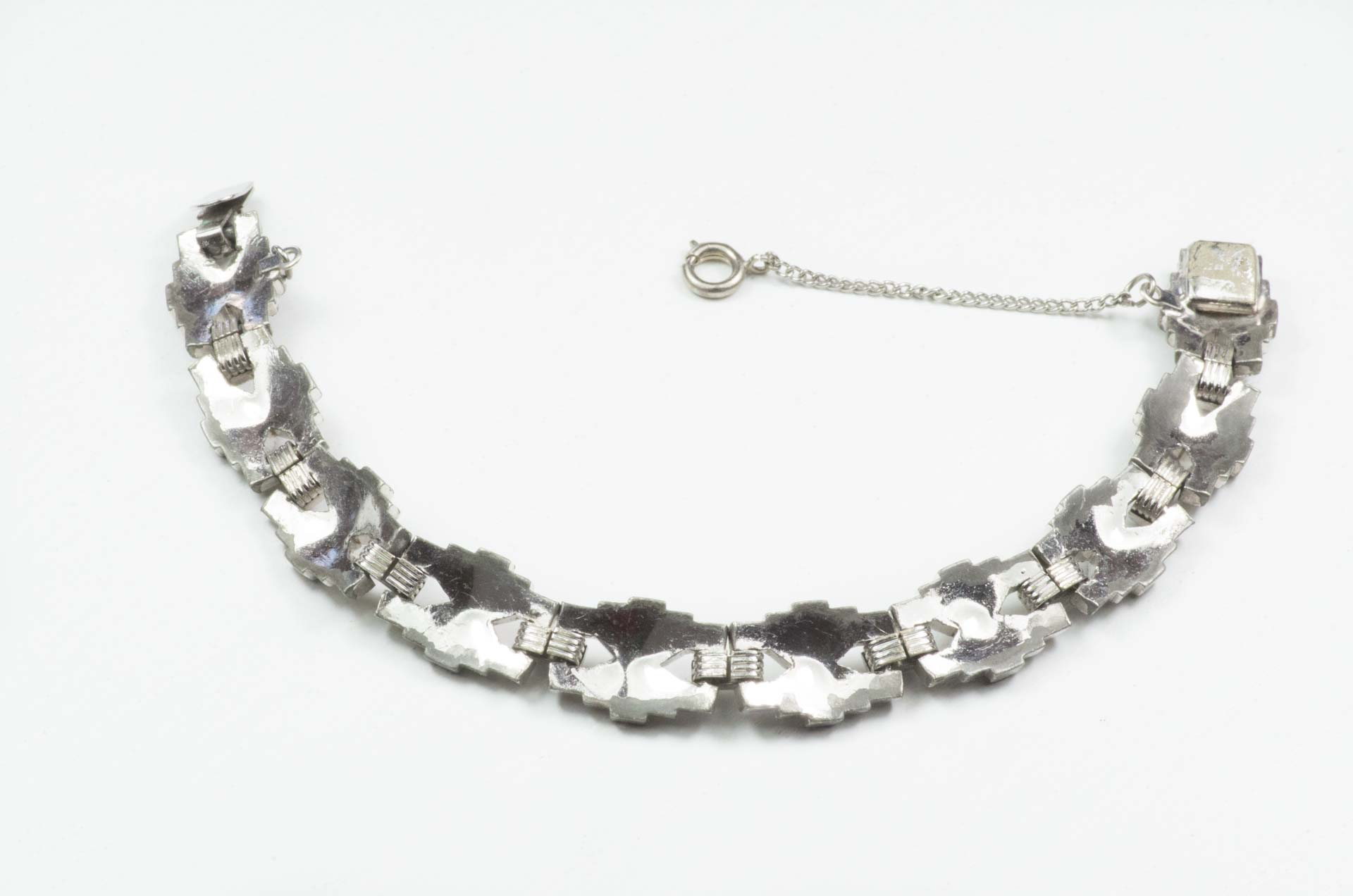 bracciale argento cristalli 1