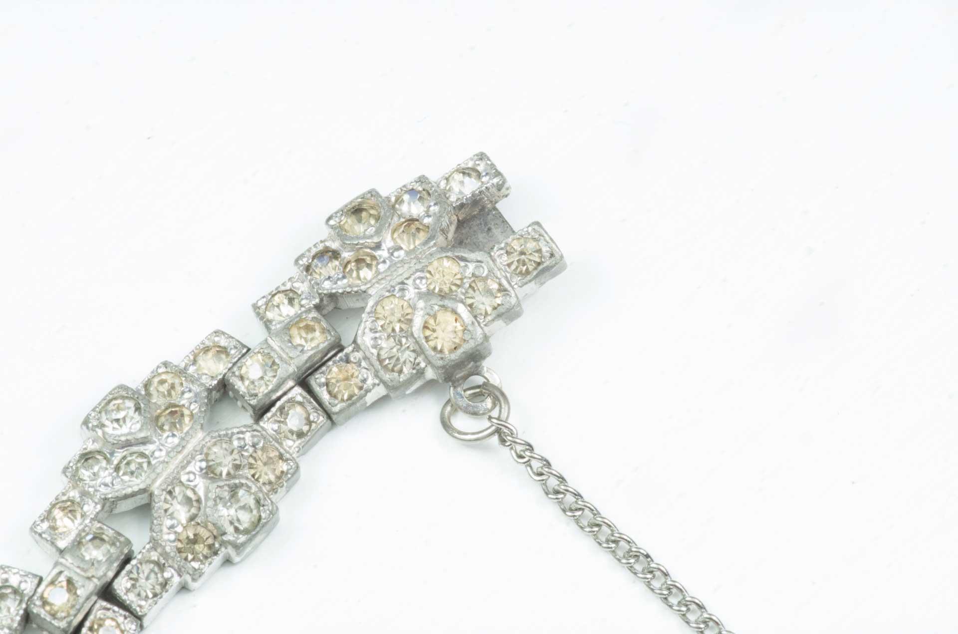 bracciale argento cristalli 4