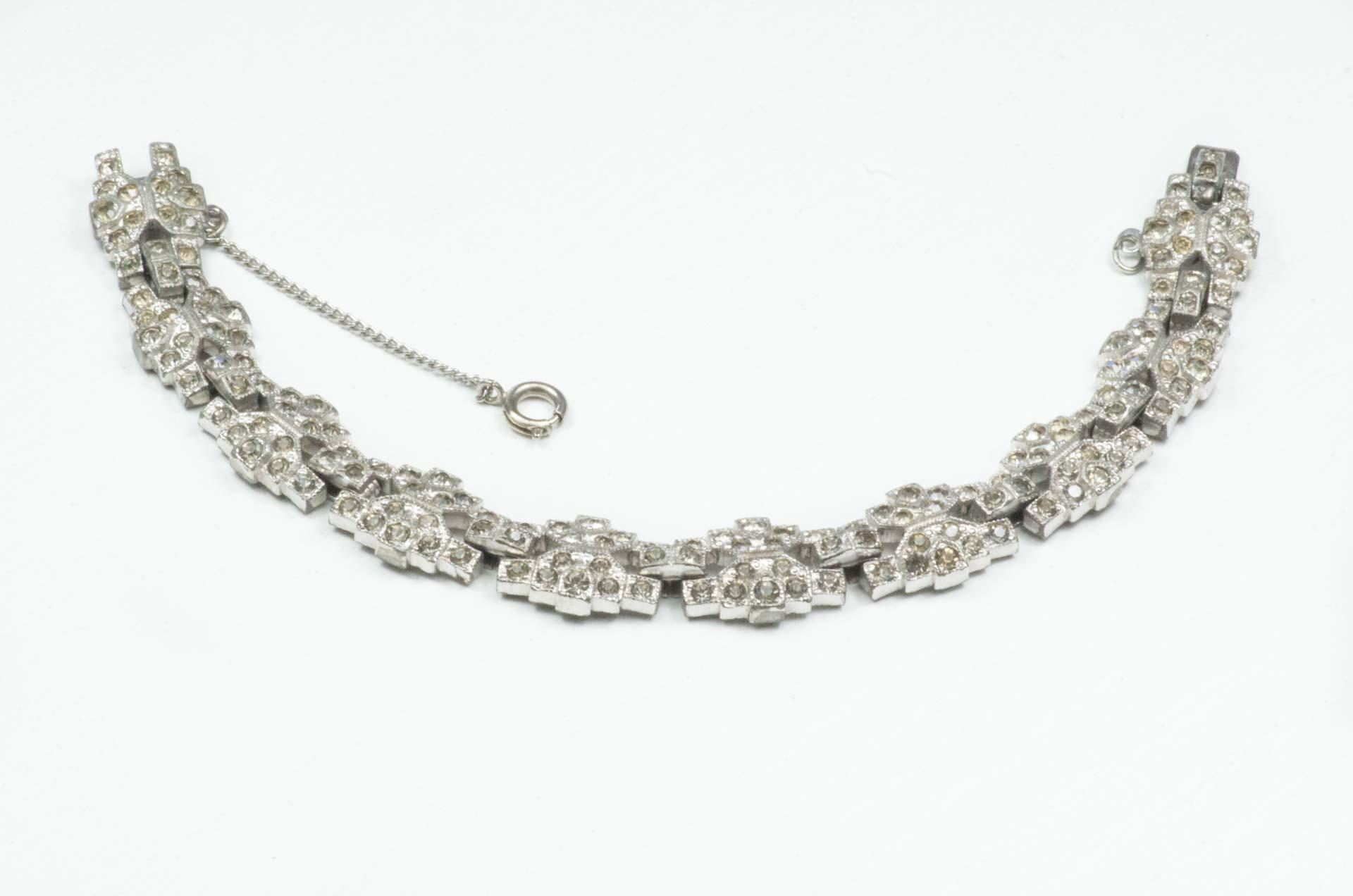 bracciale argento cristalli 7