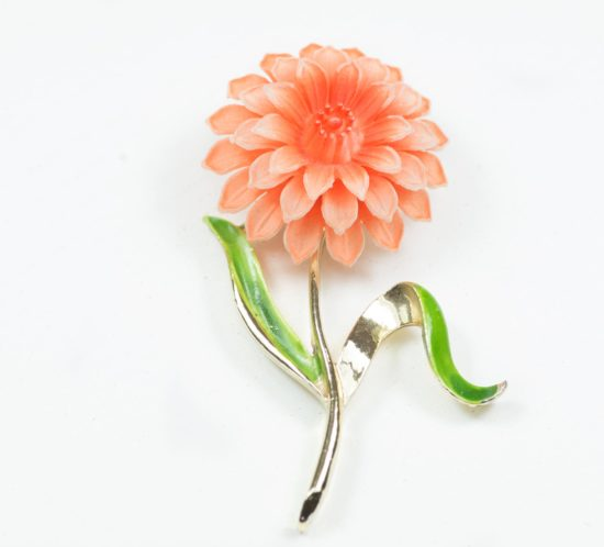spilla GERRYS fiore arancione 1