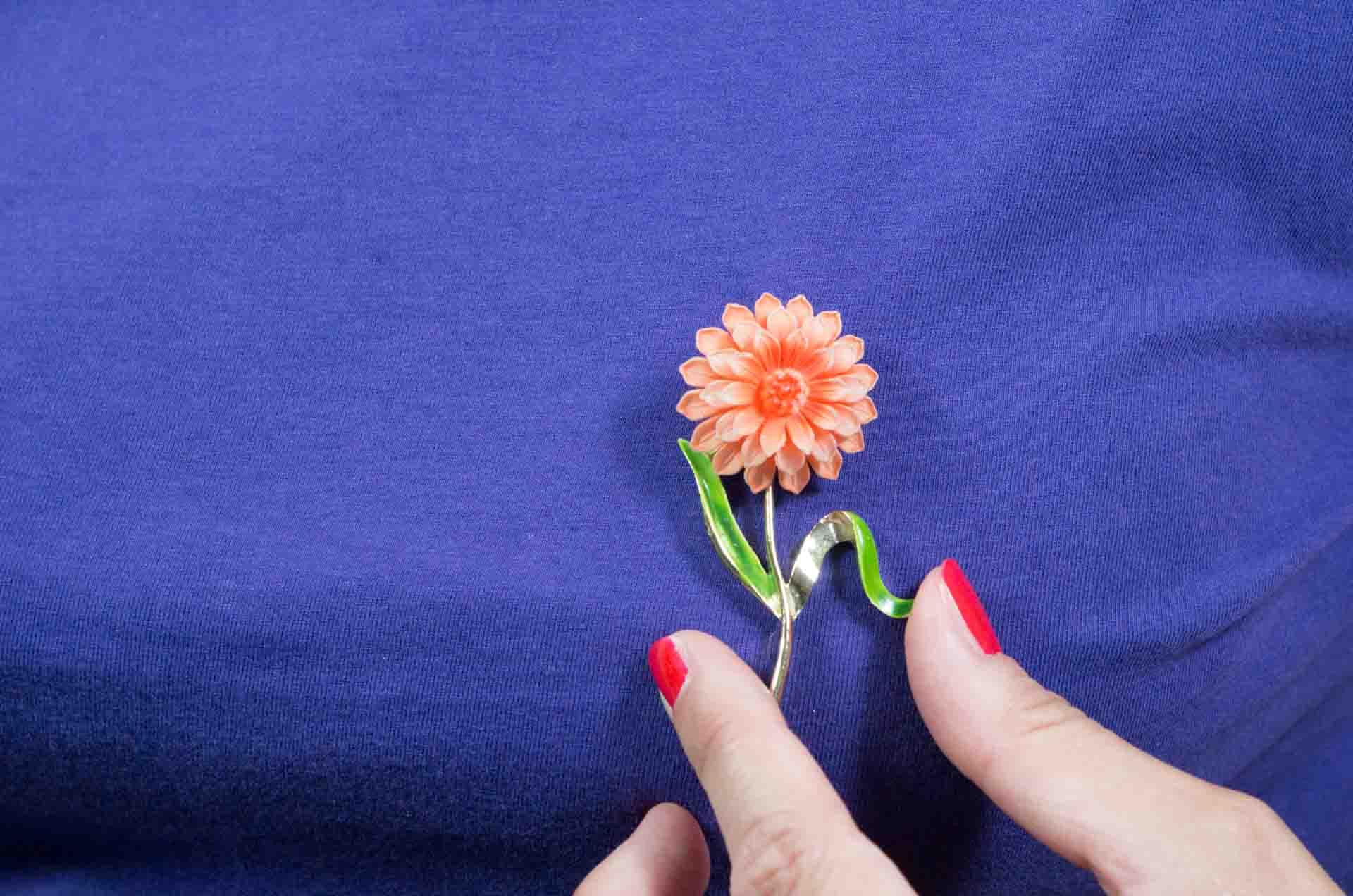 spilla GERRYS fiore arancione 10