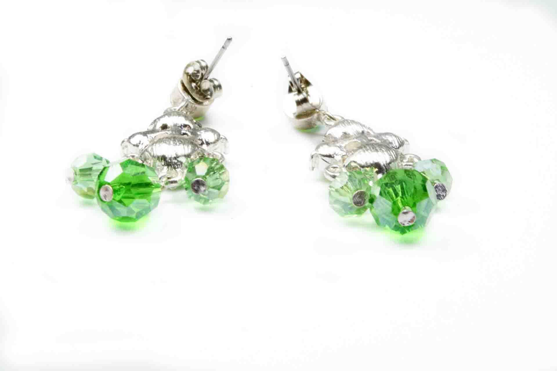 orecchini pendenti verdi 5