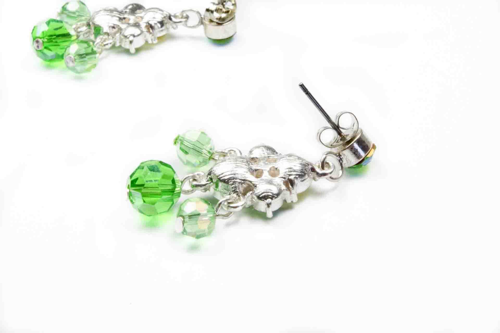 orecchini pendenti verdi 6
