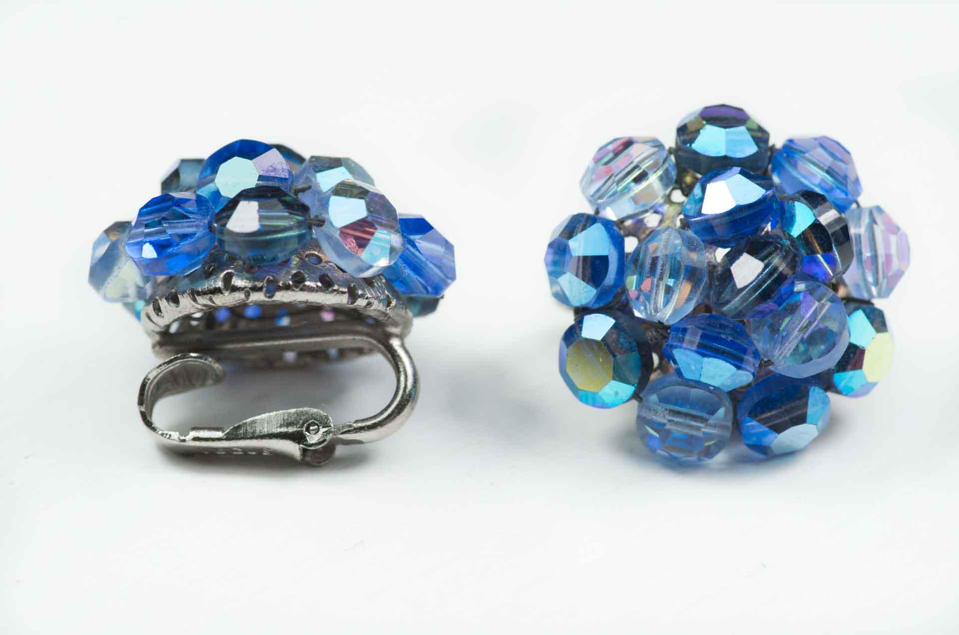 orecchini cristalli blu vogue 1