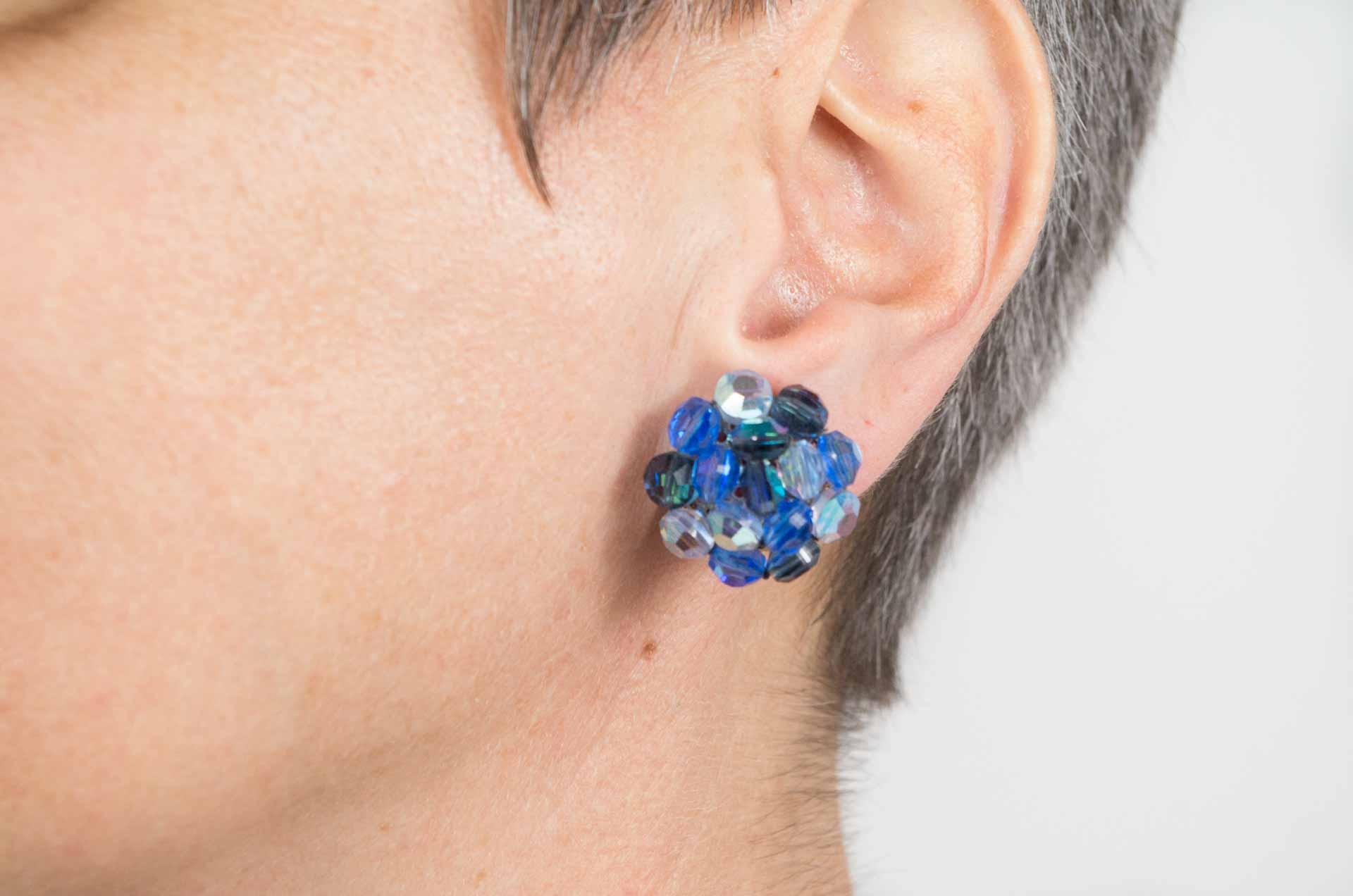 orecchini cristalli blu vogue 9