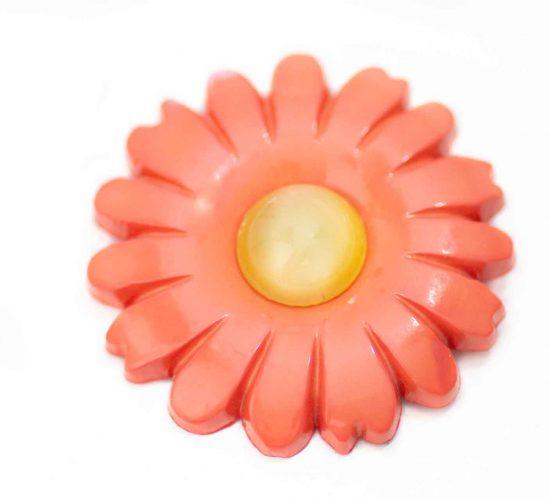 spilla fiore arancione 1