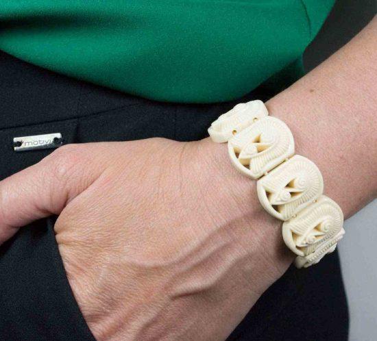 bracciale elastico panna 11
