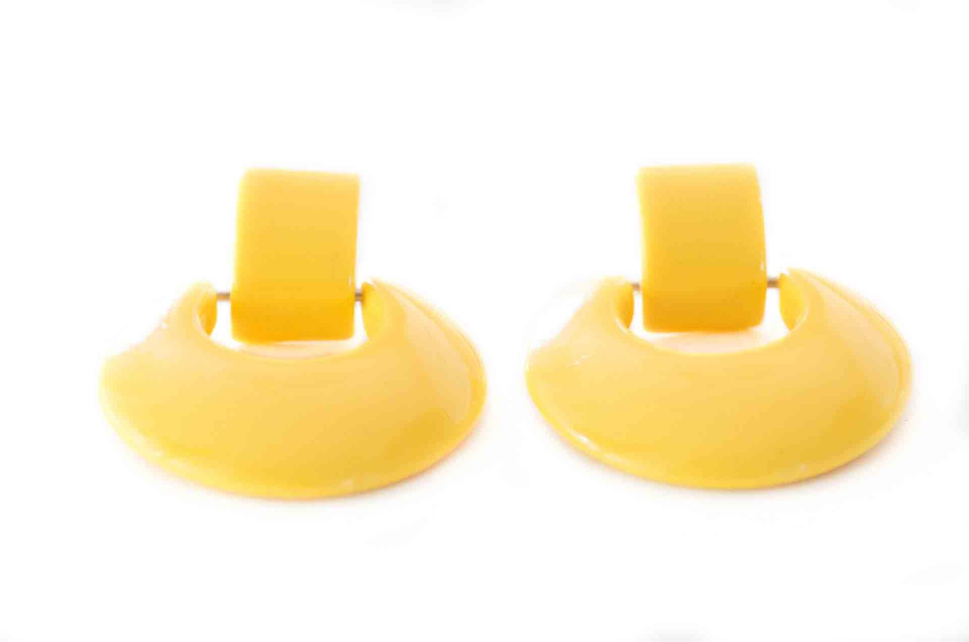 orecchini cerchio giallo 2