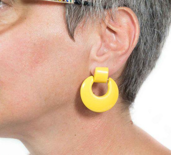 orecchini cerchio giallo 8