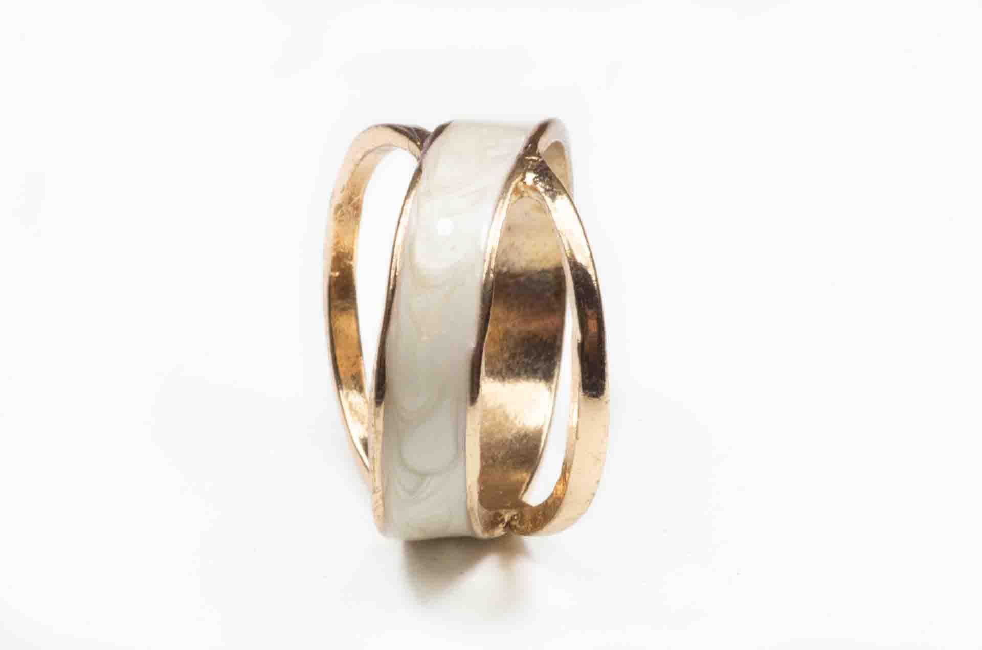 anello a doppia fascia oro 7