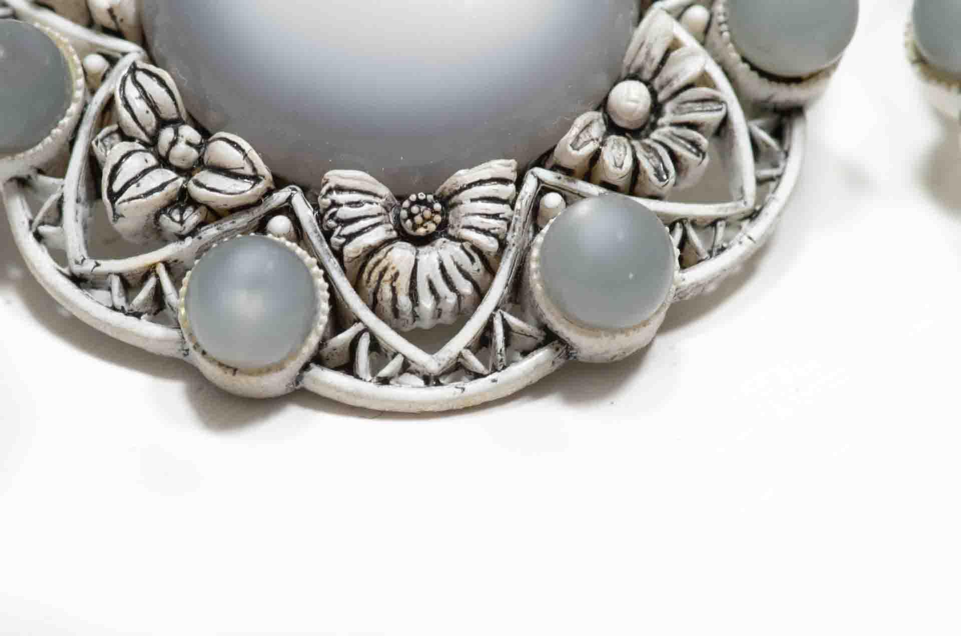 orecchini fiore grigio 2