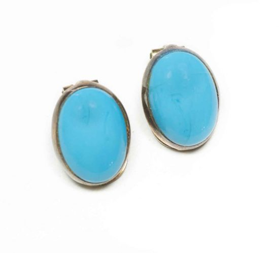 orecchini bottone turchese 1