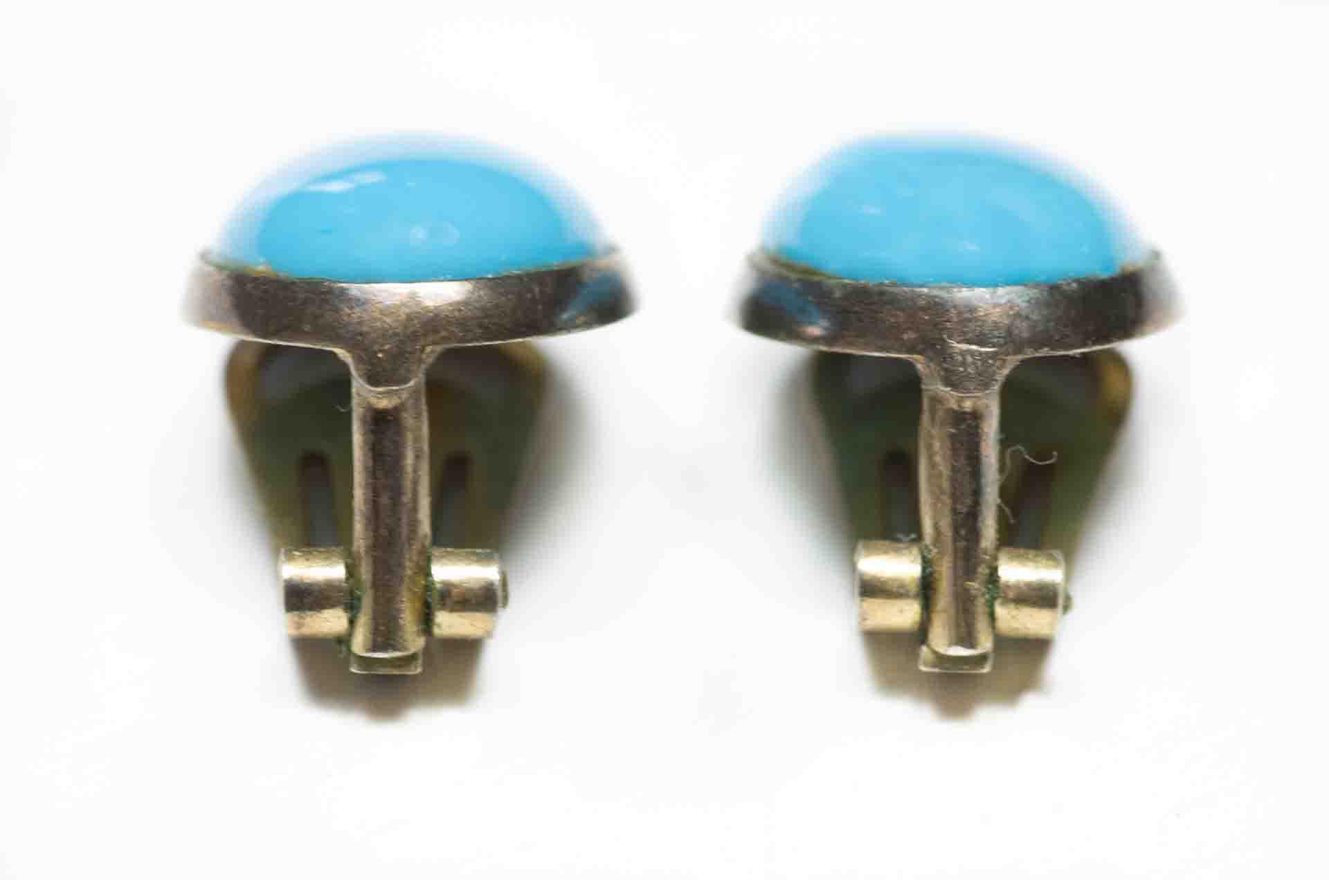 orecchini bottone turchese 4