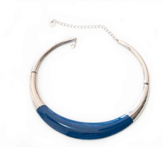 girocollo smalto blu 1