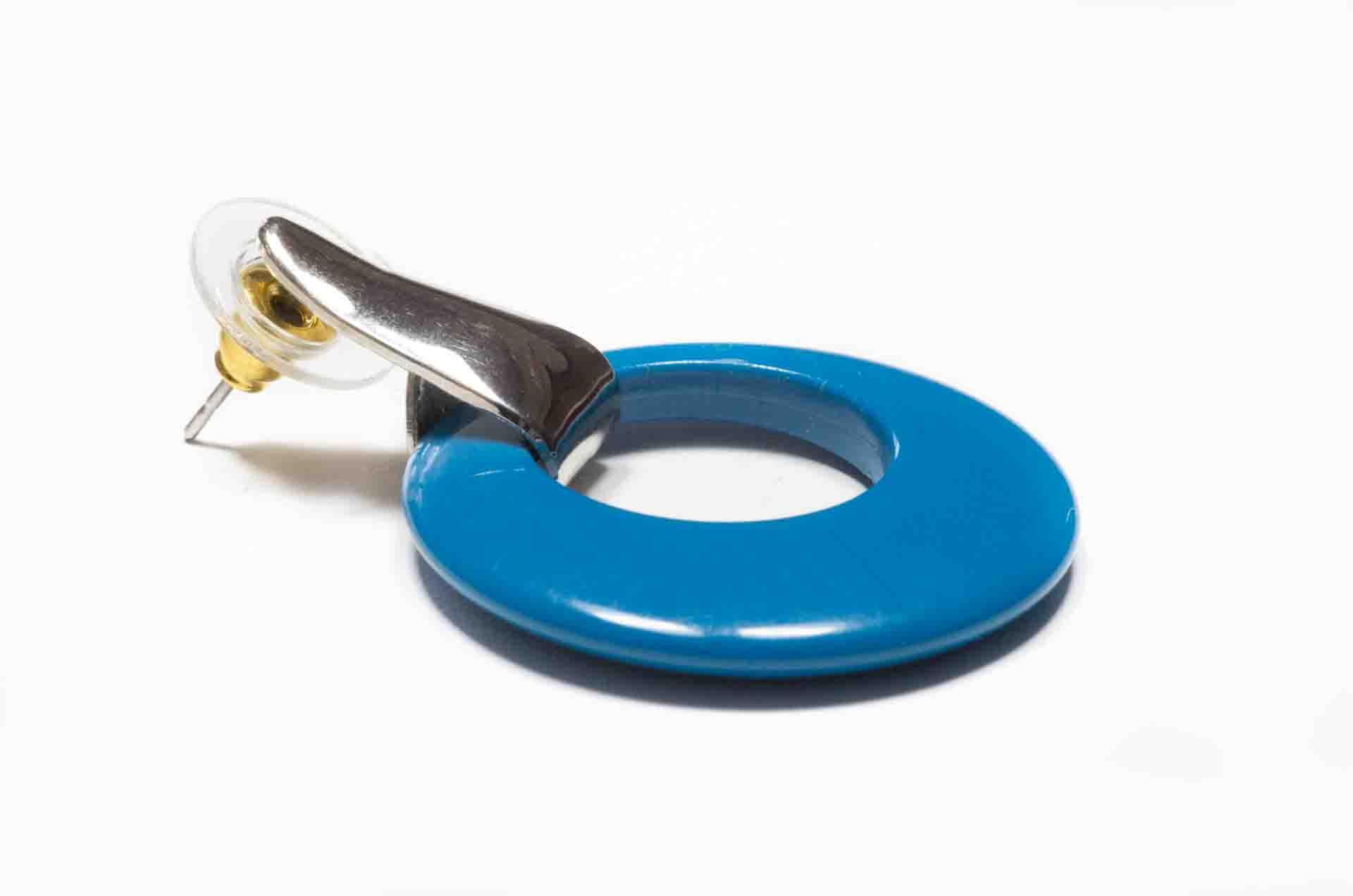 orecchini cerchio blu ottanio 5