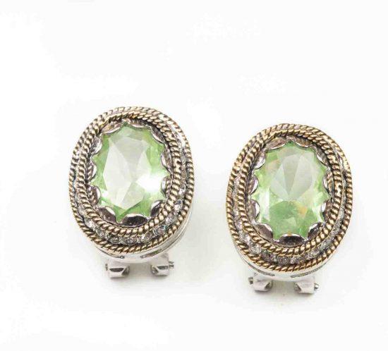 orecchini pietra verde 1