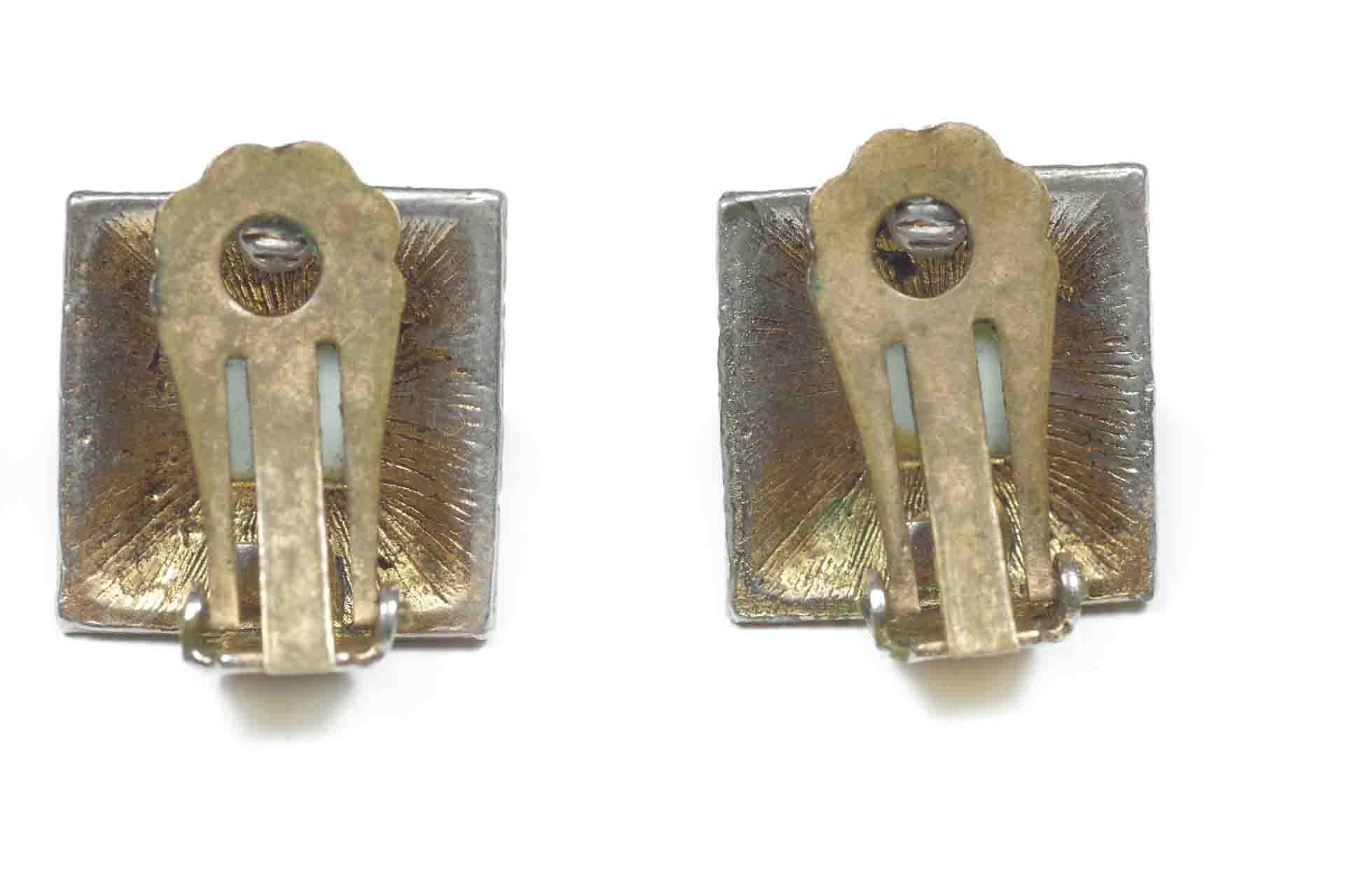 orecchini quadrati verdi 2