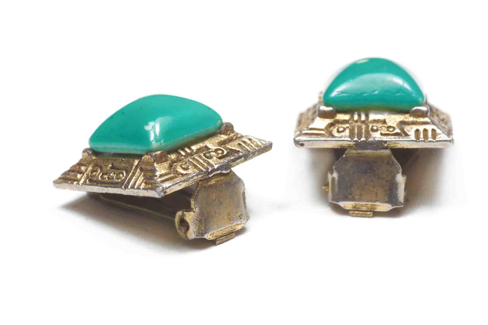 orecchini quadrati verdi 4