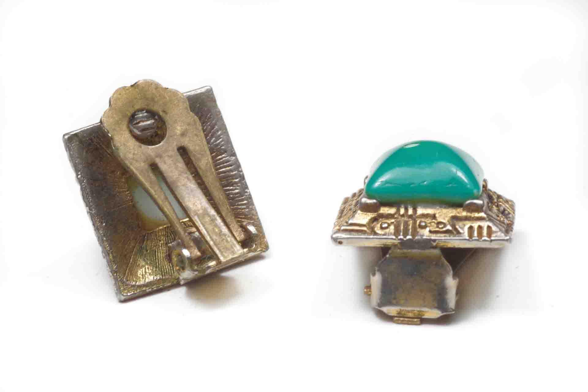 orecchini quadrati verdi 5