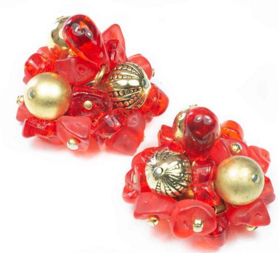 orecchini fiore rosso 2