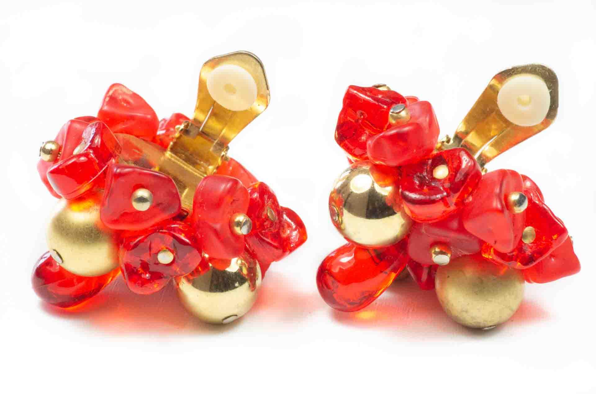 orecchini fiore rosso 5