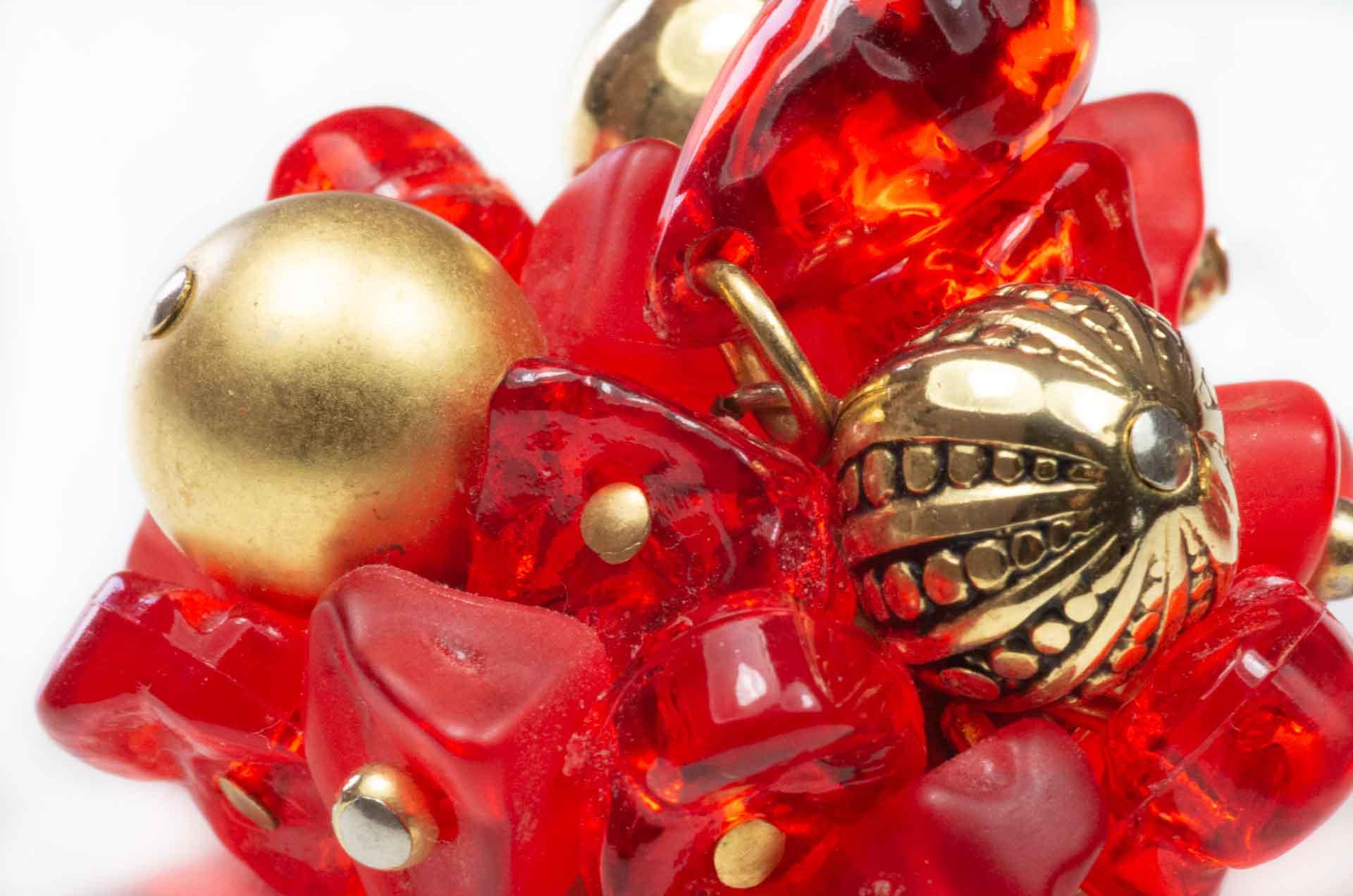 orecchini fiore rosso 6