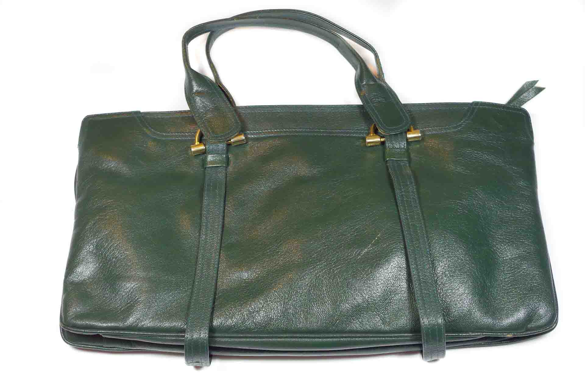 borsa in pelle verde 1