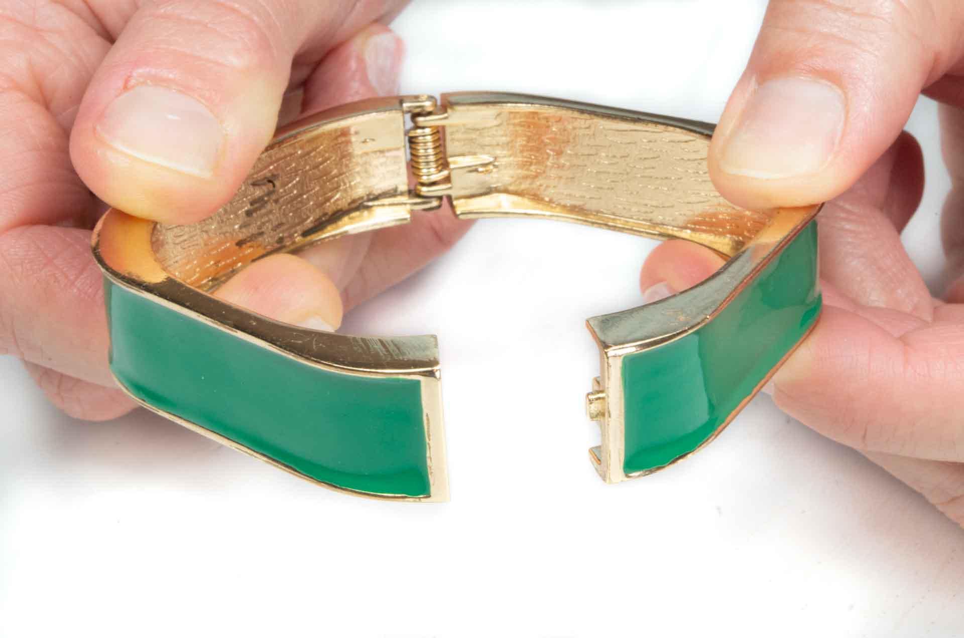 bracciale quadrato verde 11