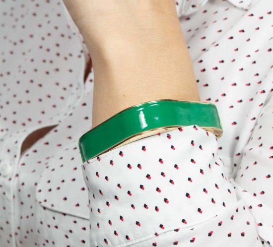 bracciale quadrato verde 14