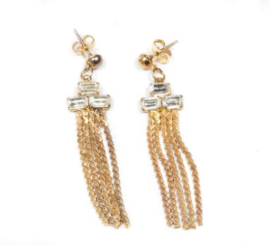 orecchini pendenti dorati 1