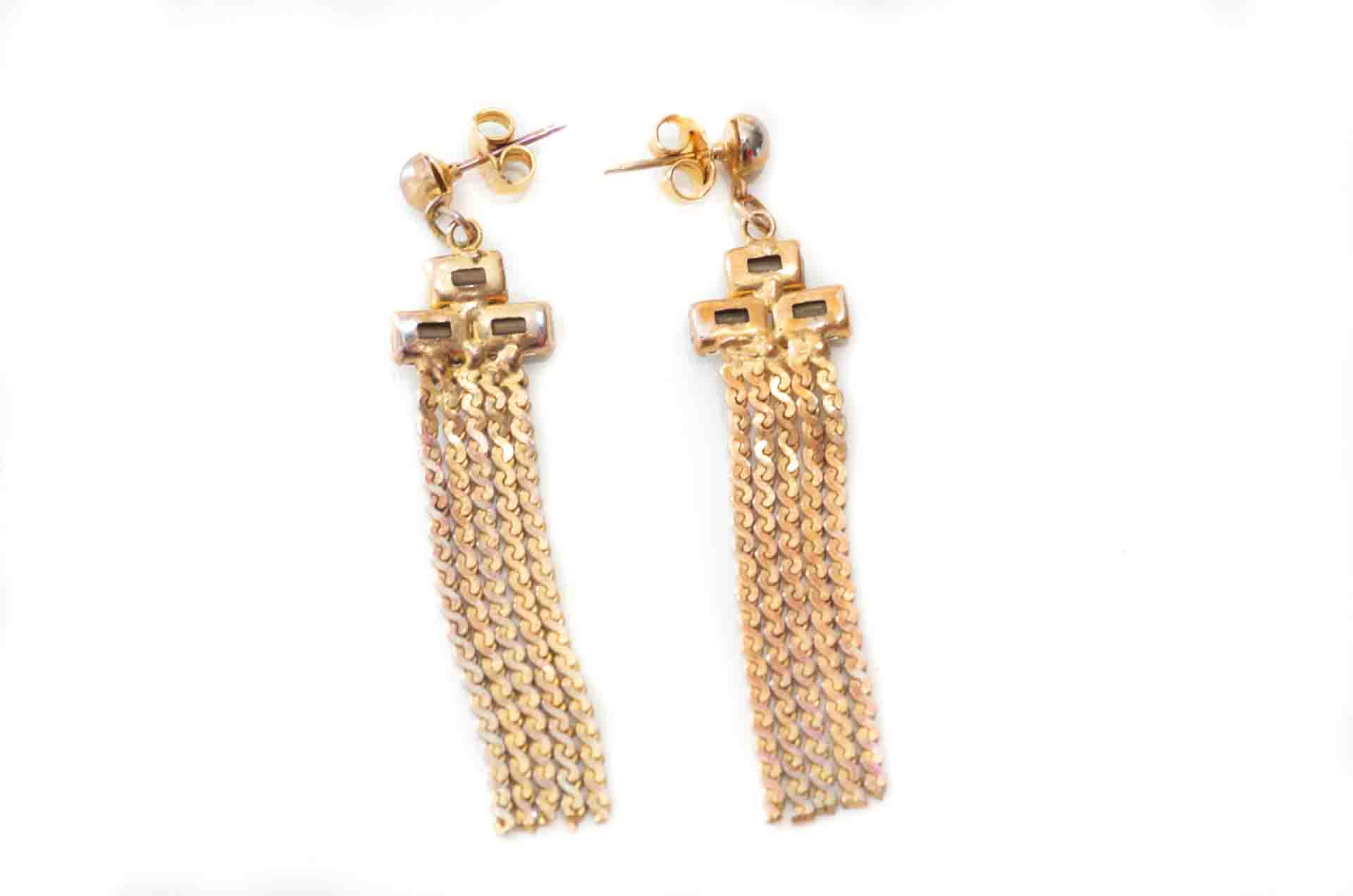 orecchini pendenti dorati 2