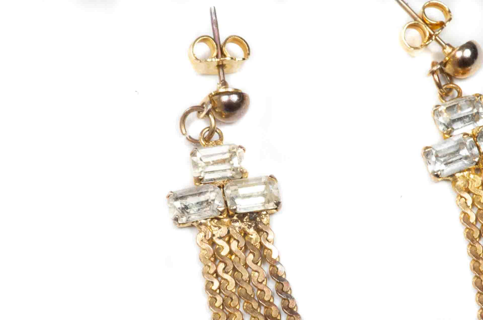 orecchini pendenti dorati 3