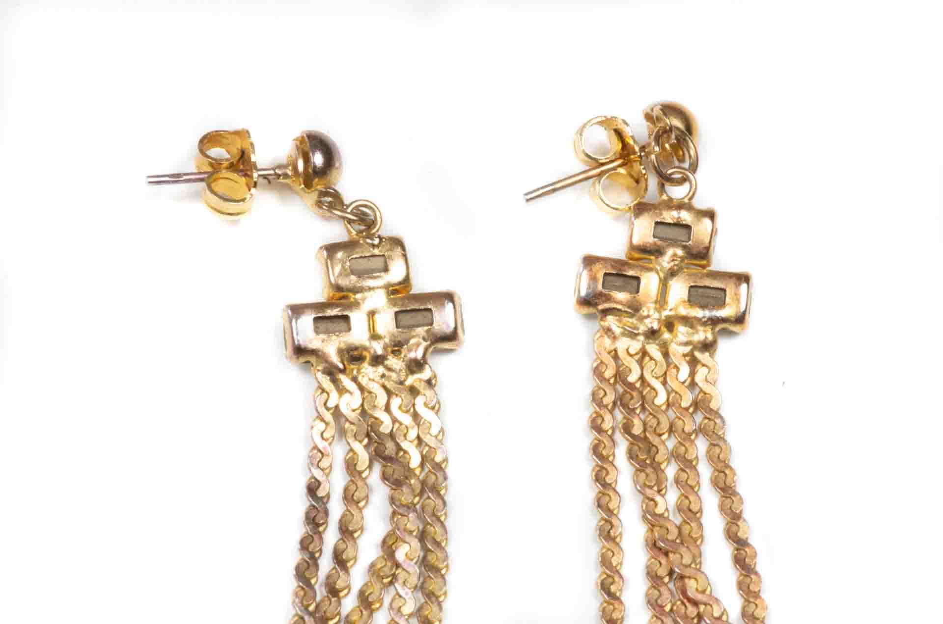 orecchini pendenti dorati 4