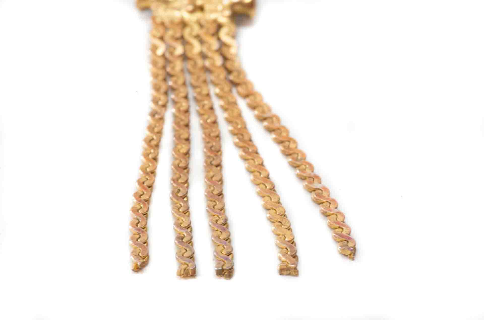 orecchini pendenti dorati 5