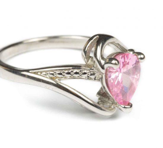 anello goccia rosa 3