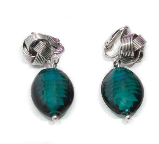 orecchini vetro verde 1